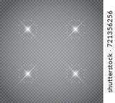 white glowing light burst... | Shutterstock .eps vector #721356256