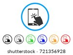 hand click smartphone rounded...   Shutterstock .eps vector #721356928