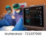 electrocardiogram in hospital...   Shutterstock . vector #721357000