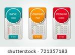 pricelist  hosting plans and... | Shutterstock .eps vector #721357183