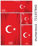 turkey flag abstract colors... | Shutterstock .eps vector #721357840