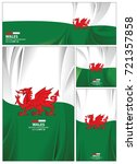 wales flag abstract colors... | Shutterstock .eps vector #721357858