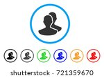 persons rounded icon. style is... | Shutterstock .eps vector #721359670