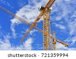tower building cranes against... | Shutterstock . vector #721359994