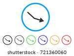 negative trend arrow rounded...   Shutterstock .eps vector #721360060