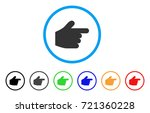 pointer finger rounded icon....