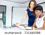 women working together  office... | Shutterstock . vector #721360588