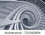spiral staircase | Shutterstock . vector #721363834