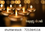 happy diwali holiday greeting... | Shutterstock .eps vector #721364116