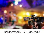 video camera taking video... | Shutterstock . vector #721366930