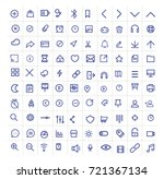 icons set for social media ... | Shutterstock .eps vector #721367134