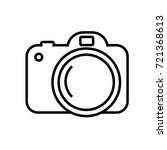 camera icon  in line vector... | Shutterstock .eps vector #721368613