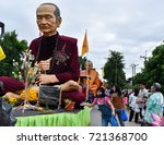 Small photo of Thailand,Uttaradit,September 17,2017:Luang Pu Tho statue at Wat Doi Sawan Uttaradit on Thailand's traditional tenth month.Look respectable