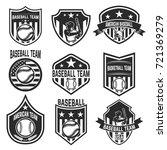 set of baseball team emblems on ... | Shutterstock .eps vector #721369279
