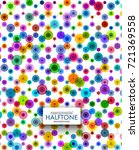 colorful halftone dotted... | Shutterstock .eps vector #721369558