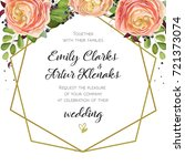 wedding invitation  floral... | Shutterstock .eps vector #721373074