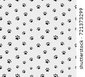 cat paw track. seamless animal... | Shutterstock .eps vector #721373299