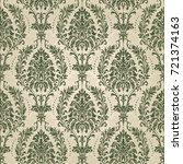 seamless damask wallpaper.... | Shutterstock .eps vector #721374163