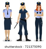 police women in sexy uniform.... | Shutterstock .eps vector #721375090