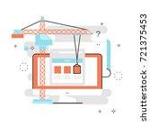 application development flat... | Shutterstock .eps vector #721375453