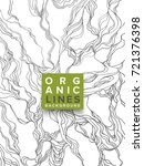 organic lines  background ... | Shutterstock .eps vector #721376398