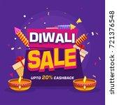 20  cashback diwali sale banner ... | Shutterstock .eps vector #721376548