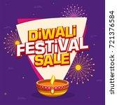 purple diwali sale banner... | Shutterstock .eps vector #721376584