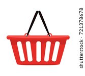 shopping basket icon   vector... | Shutterstock .eps vector #721378678
