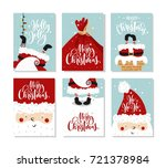 vector merry christmas and... | Shutterstock .eps vector #721378984