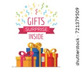 gift box icon  special present...   Shutterstock .eps vector #721379509