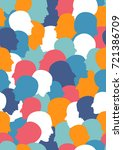 Seamless Pattern Of A Crowd Of...