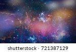 space many light years far from ... | Shutterstock . vector #721387129
