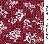rose illustration pattern | Shutterstock .eps vector #721391938