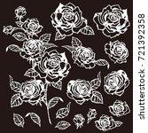rose flower illustration  | Shutterstock .eps vector #721392358