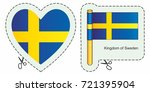 flag of sweden. vector cut sign ... | Shutterstock .eps vector #721395904