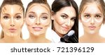 contouring.make up of female... | Shutterstock . vector #721396129