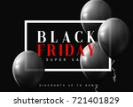 black friday sale  banner ... | Shutterstock .eps vector #721401829