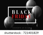 black friday sale  banner ... | Shutterstock .eps vector #721401829