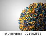 abstract shape of many hexagons ... | Shutterstock . vector #721402588