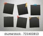 black frames isolated on... | Shutterstock .eps vector #721402813