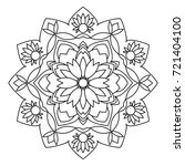 mandala. black and white... | Shutterstock . vector #721404100