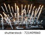 Church Candles Weaving Flames...