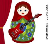 russian nesting doll with an...   Shutterstock .eps vector #721412056