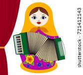 russian nesting doll with...   Shutterstock .eps vector #721412143