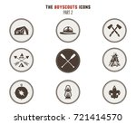 boy scouts icons  patches.... | Shutterstock .eps vector #721414570
