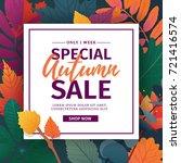 template design discount banner ... | Shutterstock .eps vector #721416574