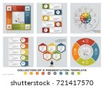 collection of 6 design colorful ... | Shutterstock .eps vector #721417570