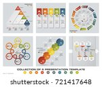 collection of 6 design colorful ... | Shutterstock .eps vector #721417648