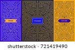 vector monogram design elements ... | Shutterstock .eps vector #721419490
