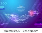 blue whale in the form of a... | Shutterstock .eps vector #721420009